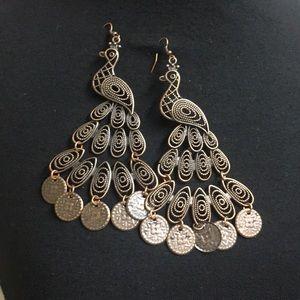 Handmade Adorable peacock earrings